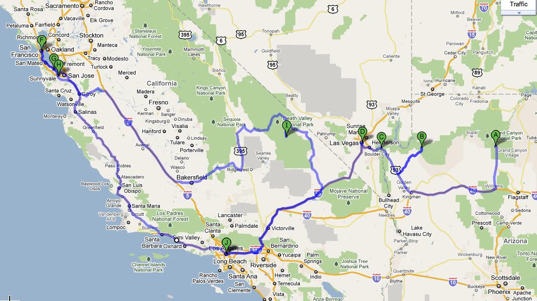nyugat amerika térkép Irány Las Vegas   Handras nyugat amerika térkép