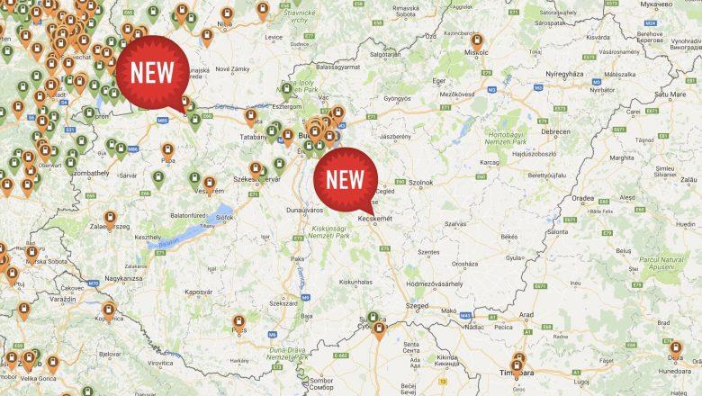 elektromos autó töltő helyek Magyarországon